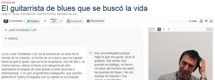 Articulo Diario Sur Lito Fernández Lito Blues Band