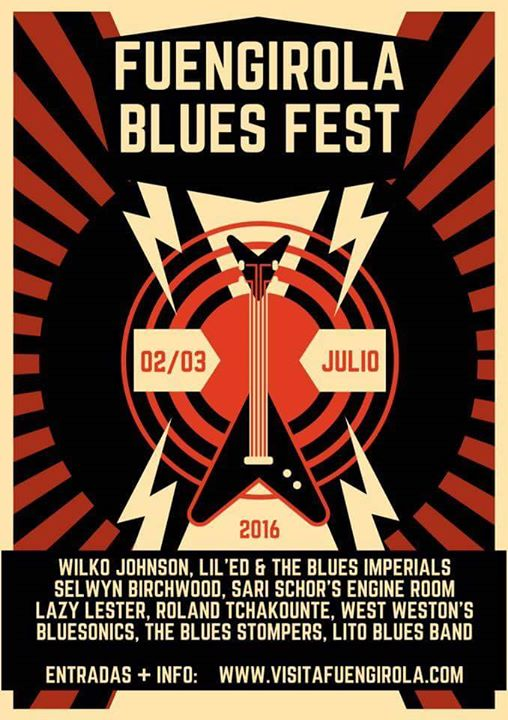 Cartel Fuengirola Blues Fest 2016 Lito Blues Band