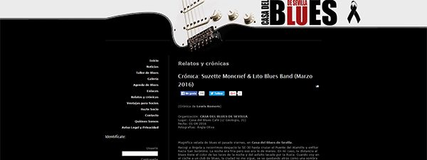 Cronica Lito Blues Band en Casa del Blues de Sevilla