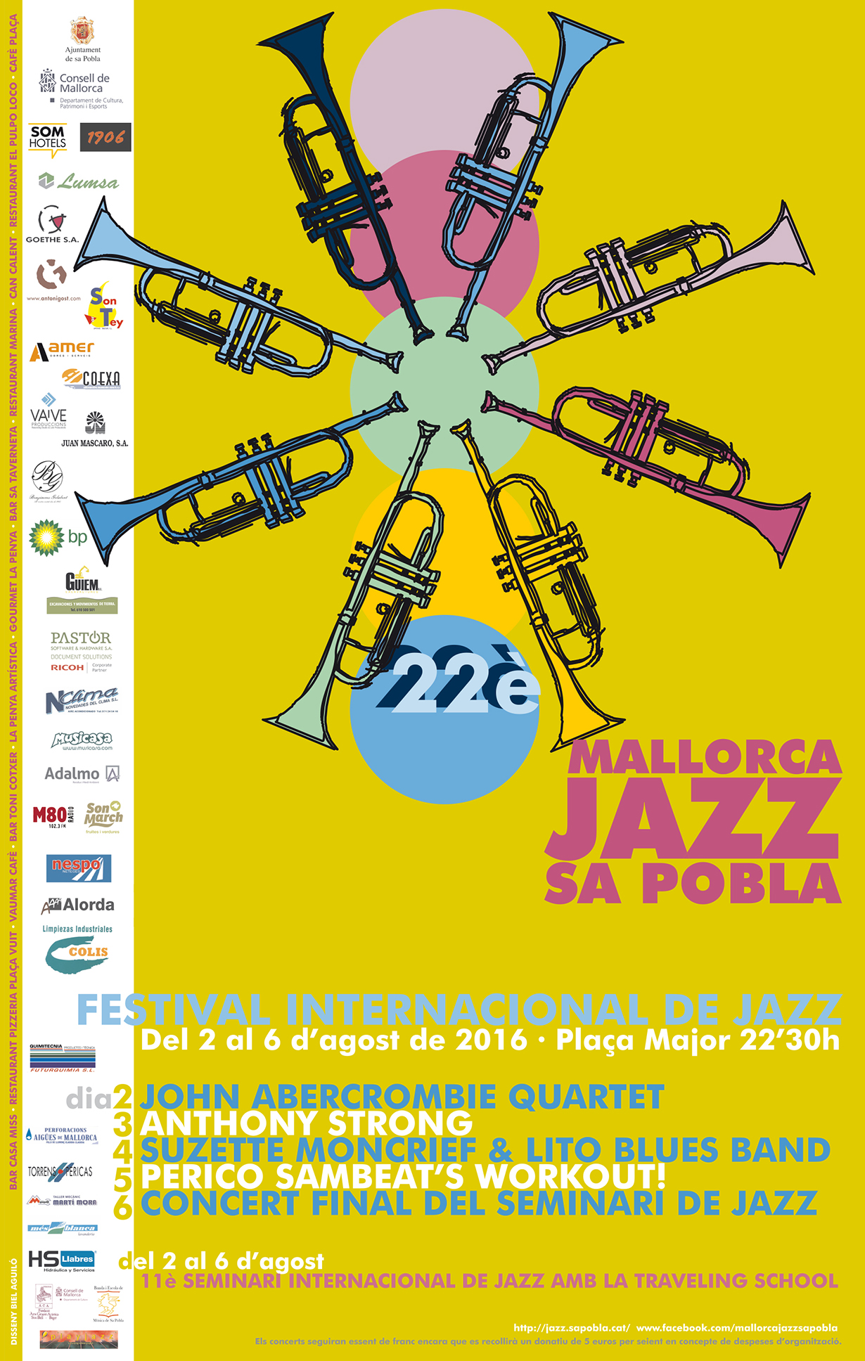 Cartel Mallorca Jazz Sa Pobla Festival 2016